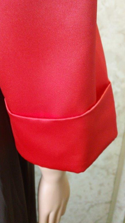 red bolero jacket no trim on sleeves