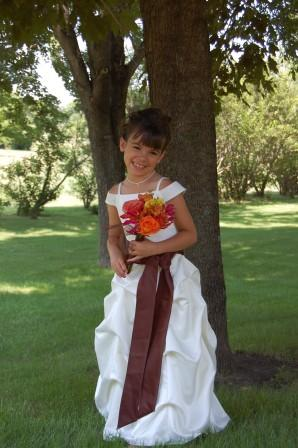 flower girl pick up dress