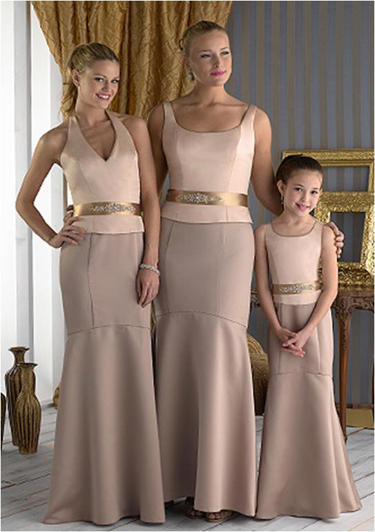 Bridesmaid mix and match top dresses.