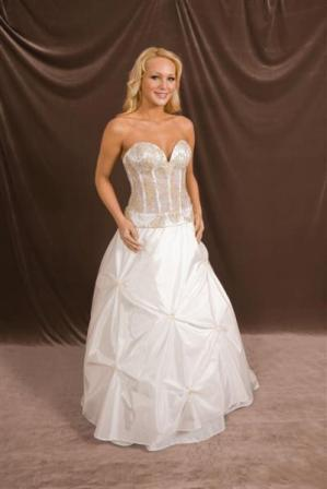 Sweetheart strapless see through corset wedding dress