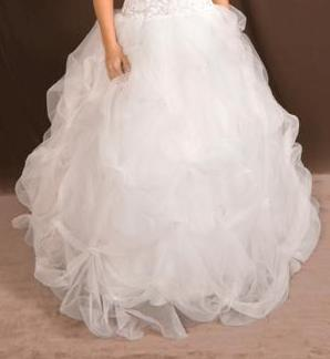 Halter low cut see thru corset wedding gown
