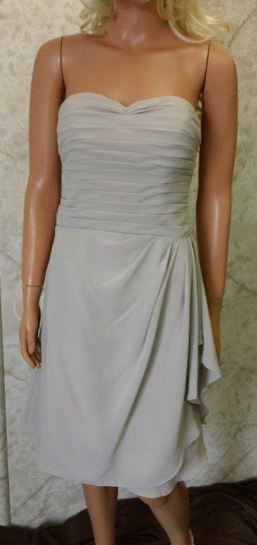Strapless pleated sweetheart bodice Bridesmaid dress