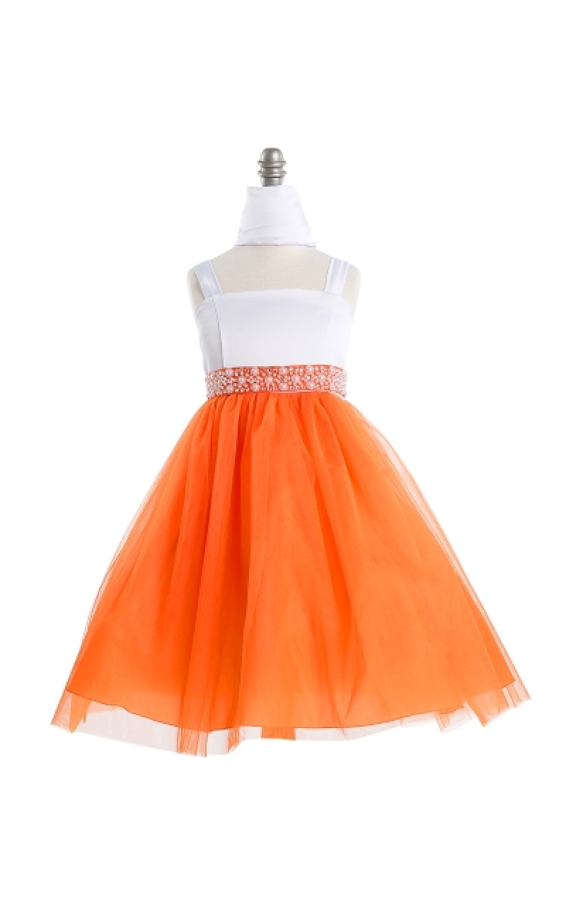 orange dresses for girls