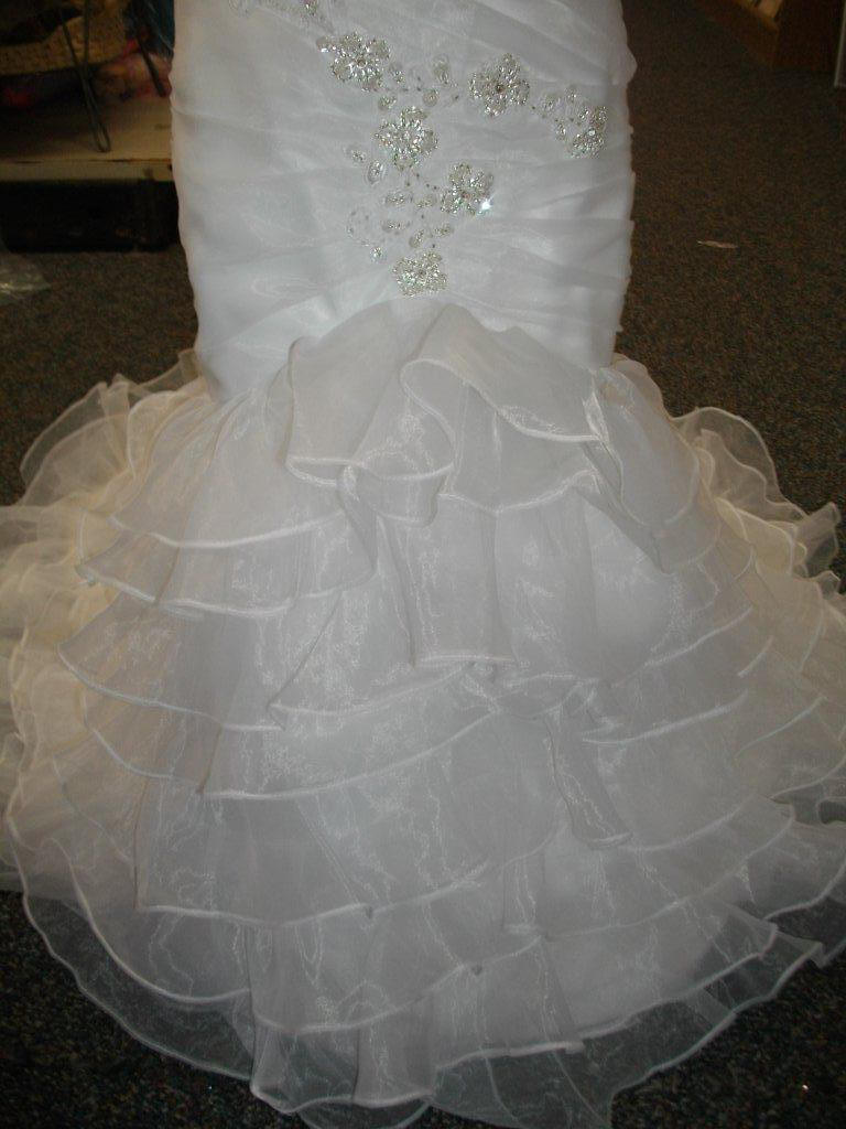 organza multi tiered flower girl bridal skirt
