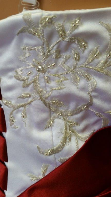 silver embroidery and beading
