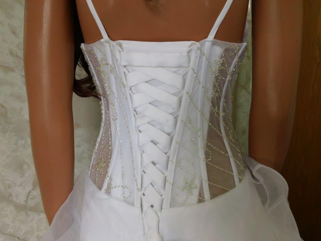 sheer corset bodice wedding gown