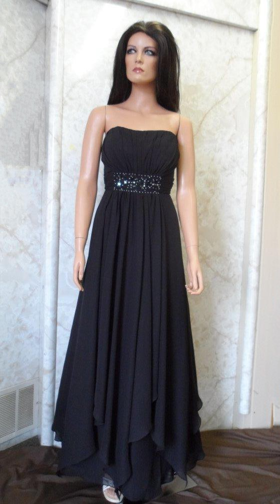 bridesmaids black handkerchief hem dresses