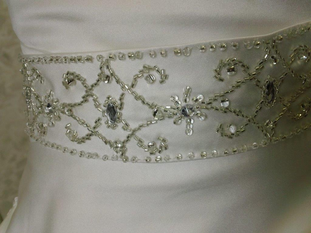 crystal beaded embroidery waistline