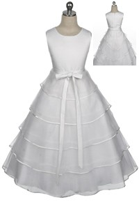 ivory tiered flower girl dress $40