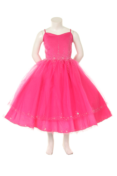pageant dress with glittery crystal beads
