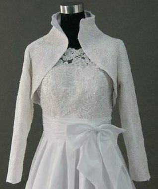wedding dress long sleeve jacket