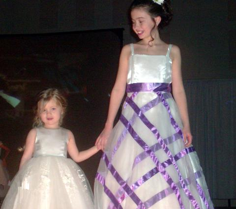 long junior bridesmaid dress