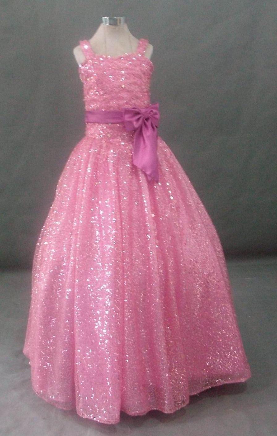 9d38412b4 Pink Glittery Girls Dresses