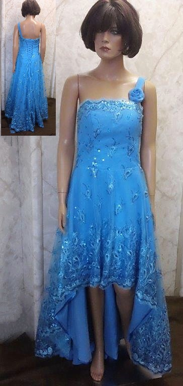 blue high low pageant dress