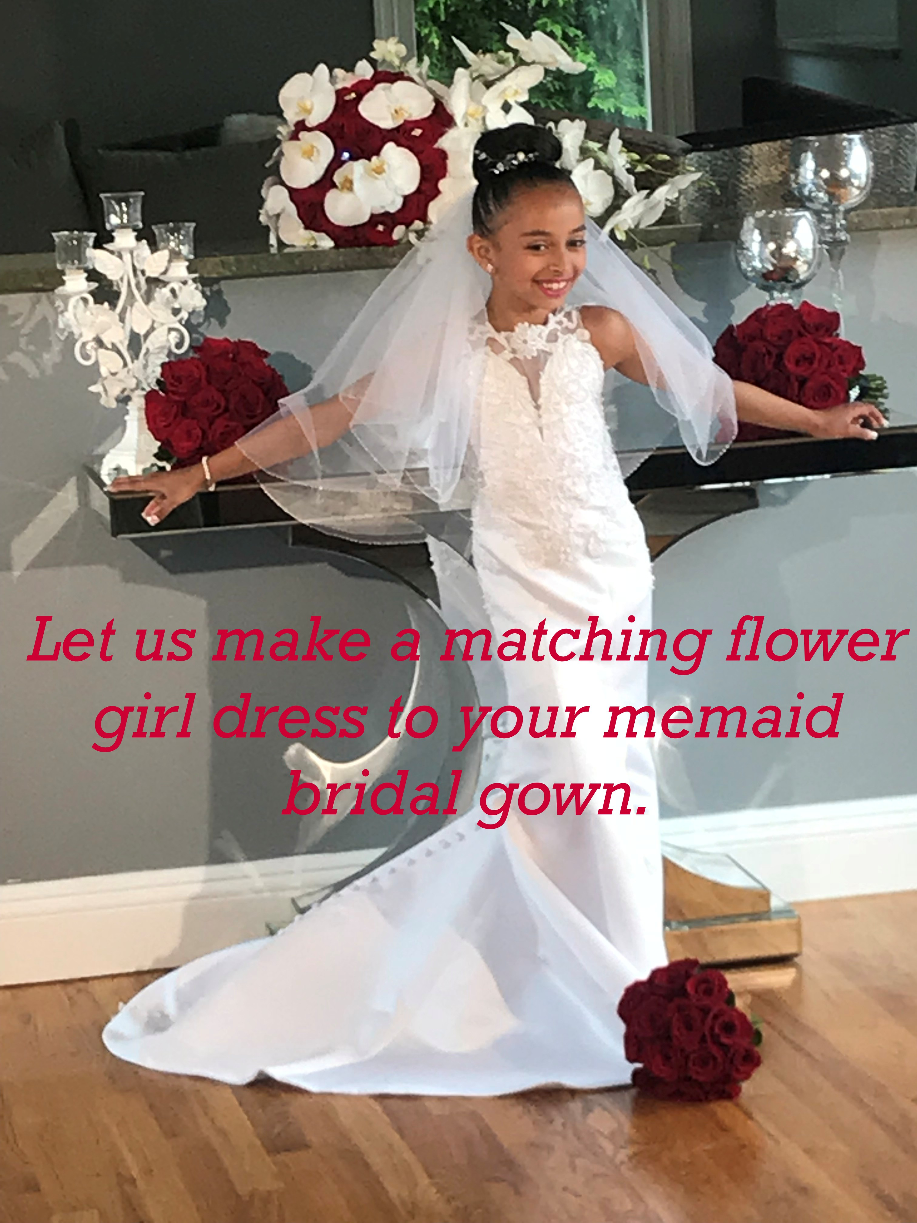 mermaid flower girl dresses