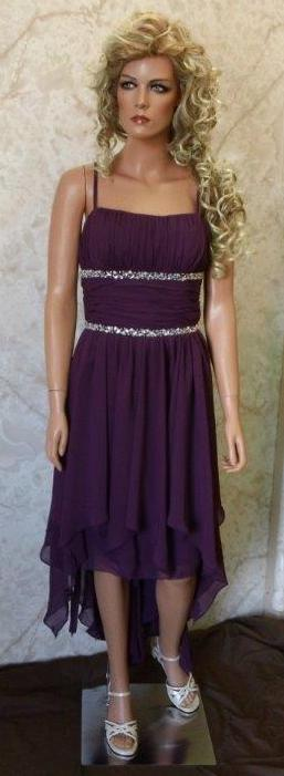 Plum Wedding Party dress High Low
