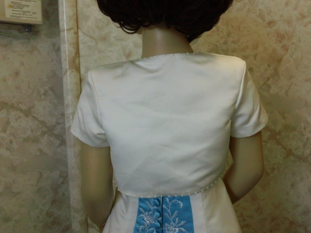 Short sleeve bead edged bolero