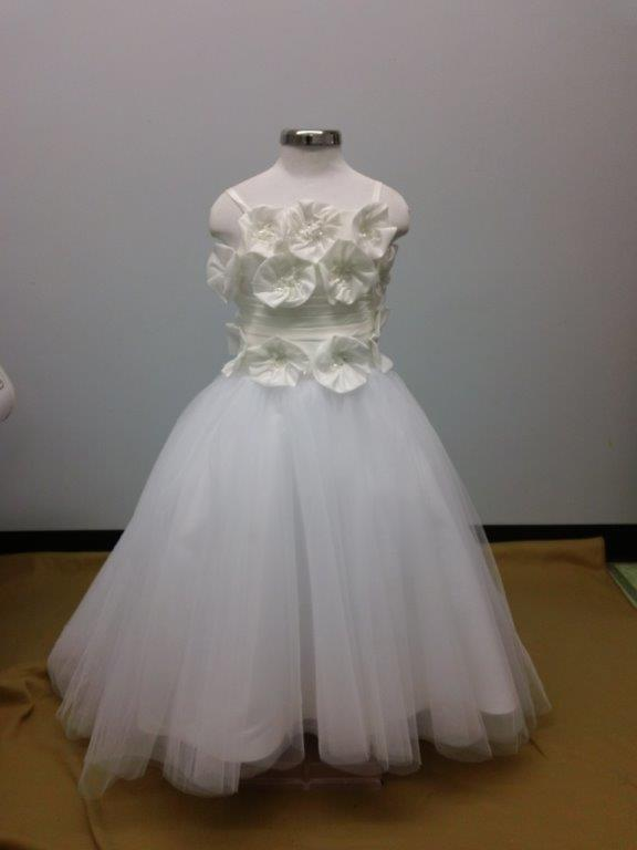 Beaded Taffeta Flower Girl Dress