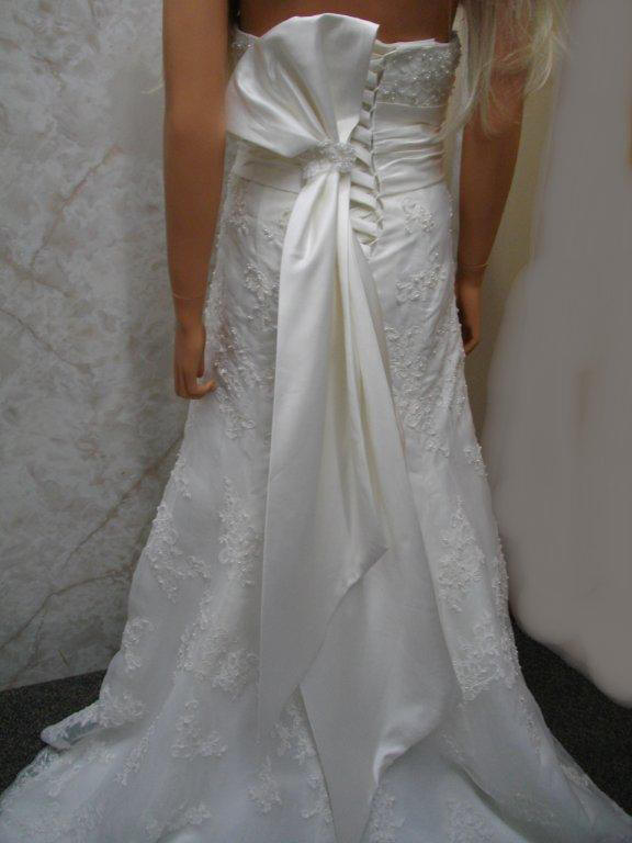 wedding gown with obi sash