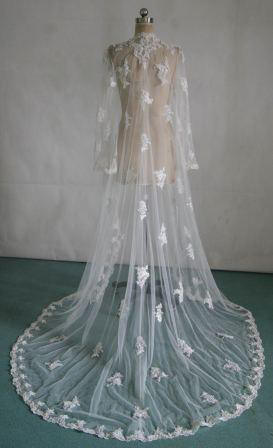 floor length bridal jacket