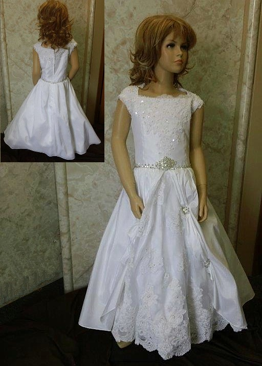 Flower Girl Dress with Lavish Lace Underskirt
