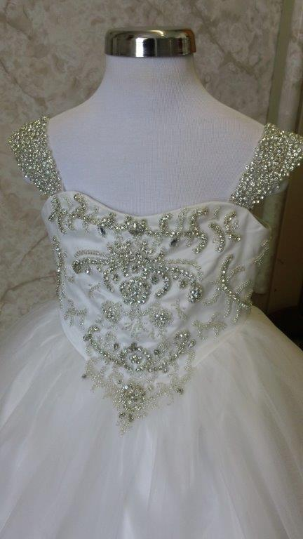 flower girl dress with jewels