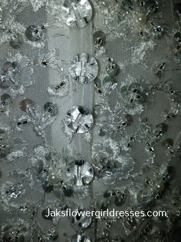 crystal flower girl dress