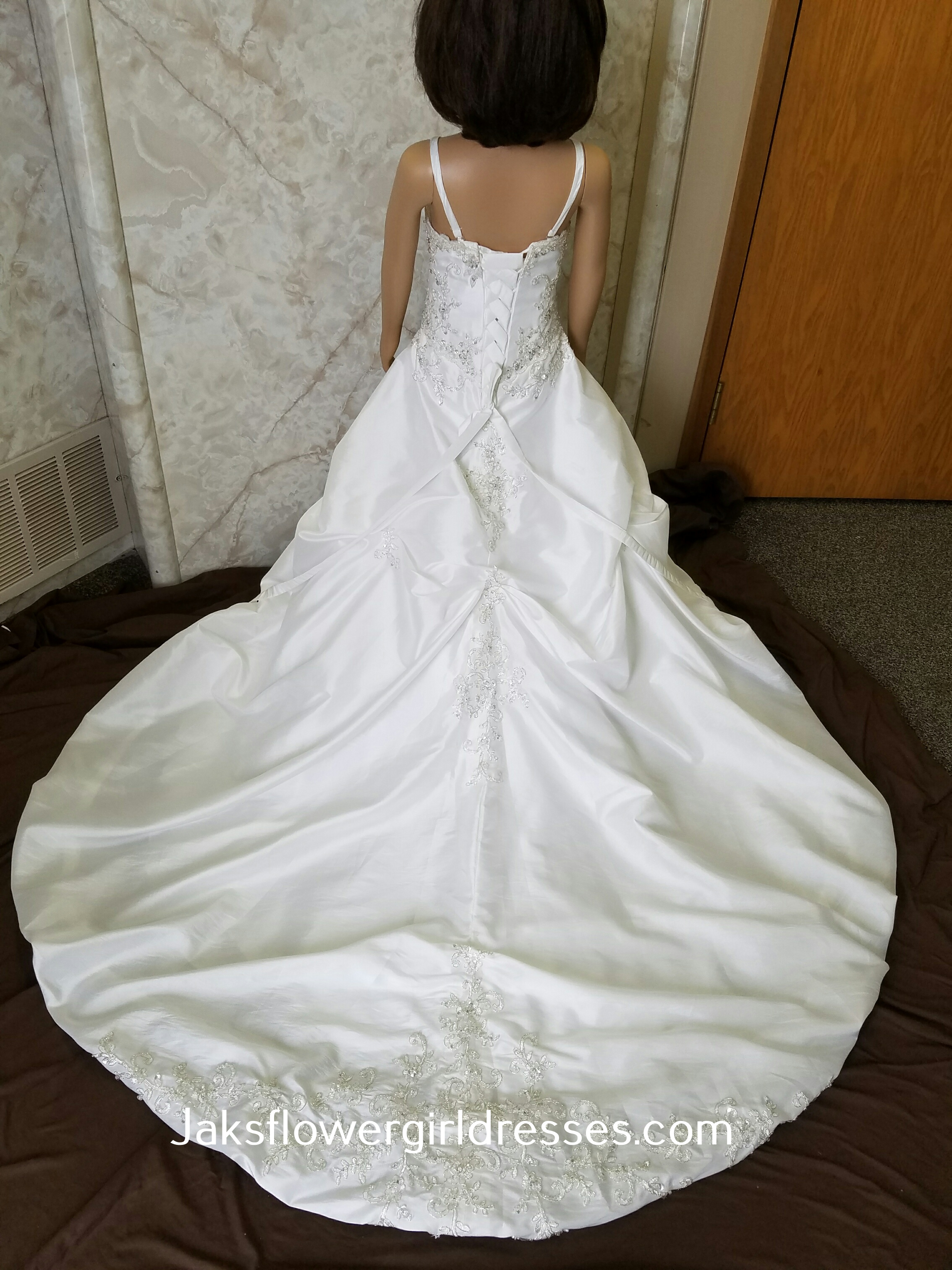 Floor length designer flower girl dresses