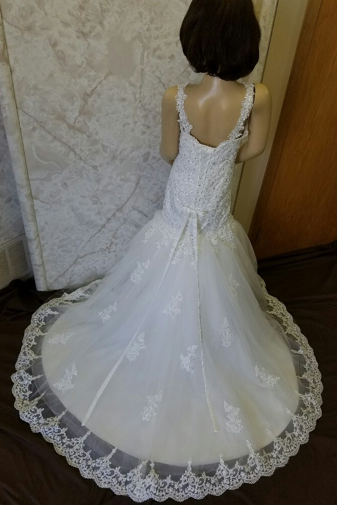 Fit and flare flower girl wedding dress