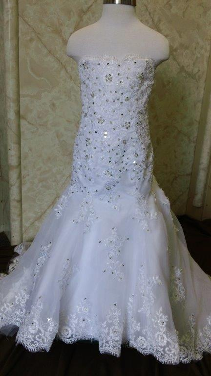 lace mermaid flower girl dress