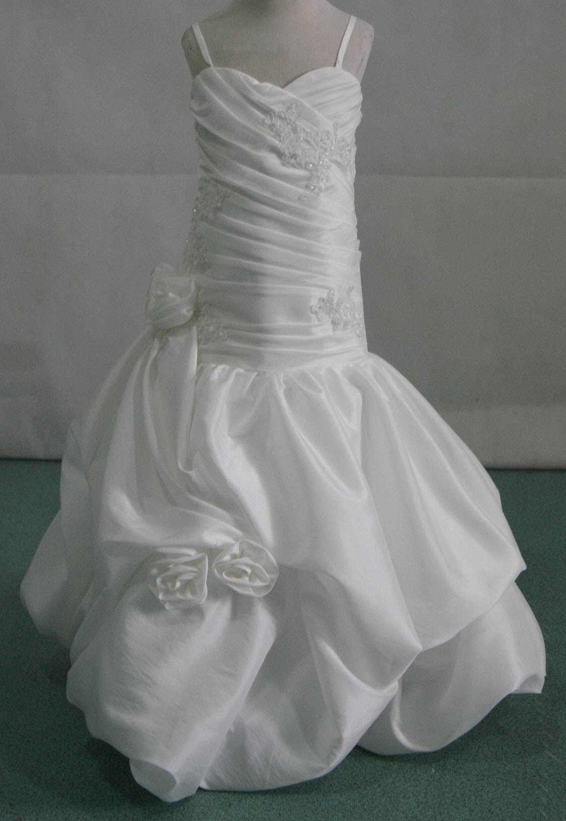 Matching miniature bride wedding dresses
