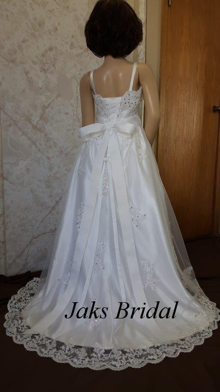 size 8 miniature wedding gown