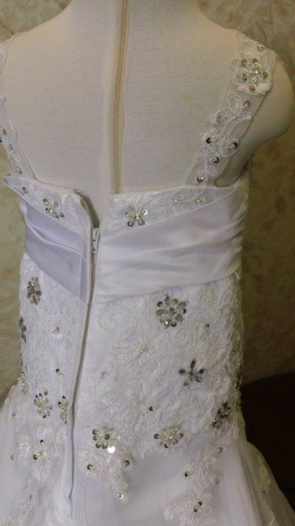 lace applique and crystals