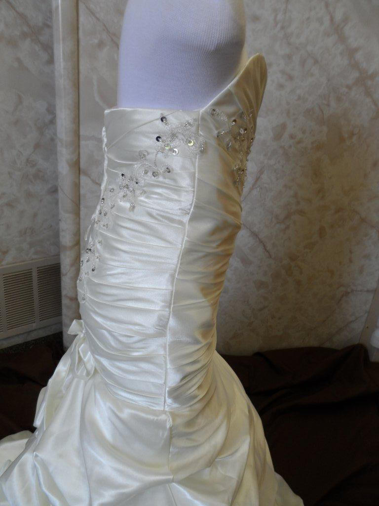 strapless fitted bodice
