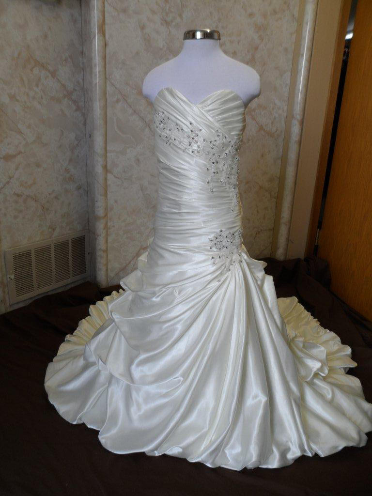bubble layered miniature bridal gown