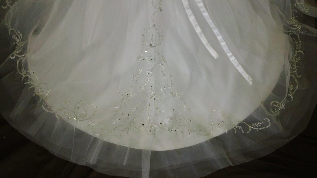 ivory embroidered flower girl dress