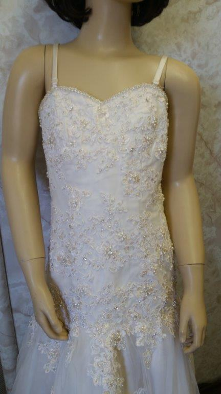 Lace crystal beaded embroidery dress