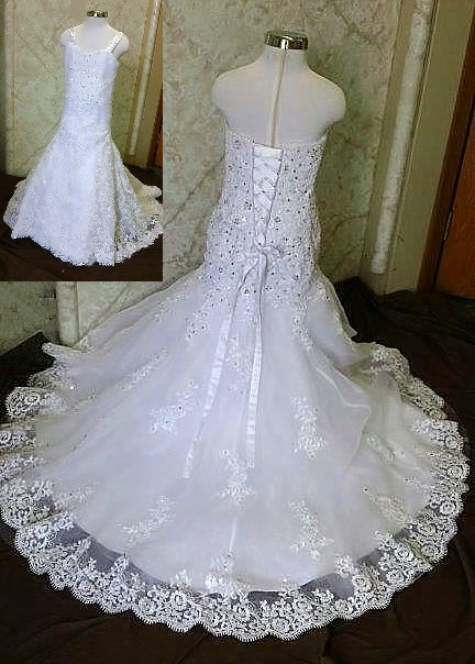 Sweetheart Beaded Lace Trumpet dress
