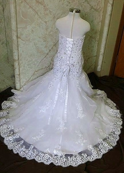 Lace Trumpet flower girl dresses