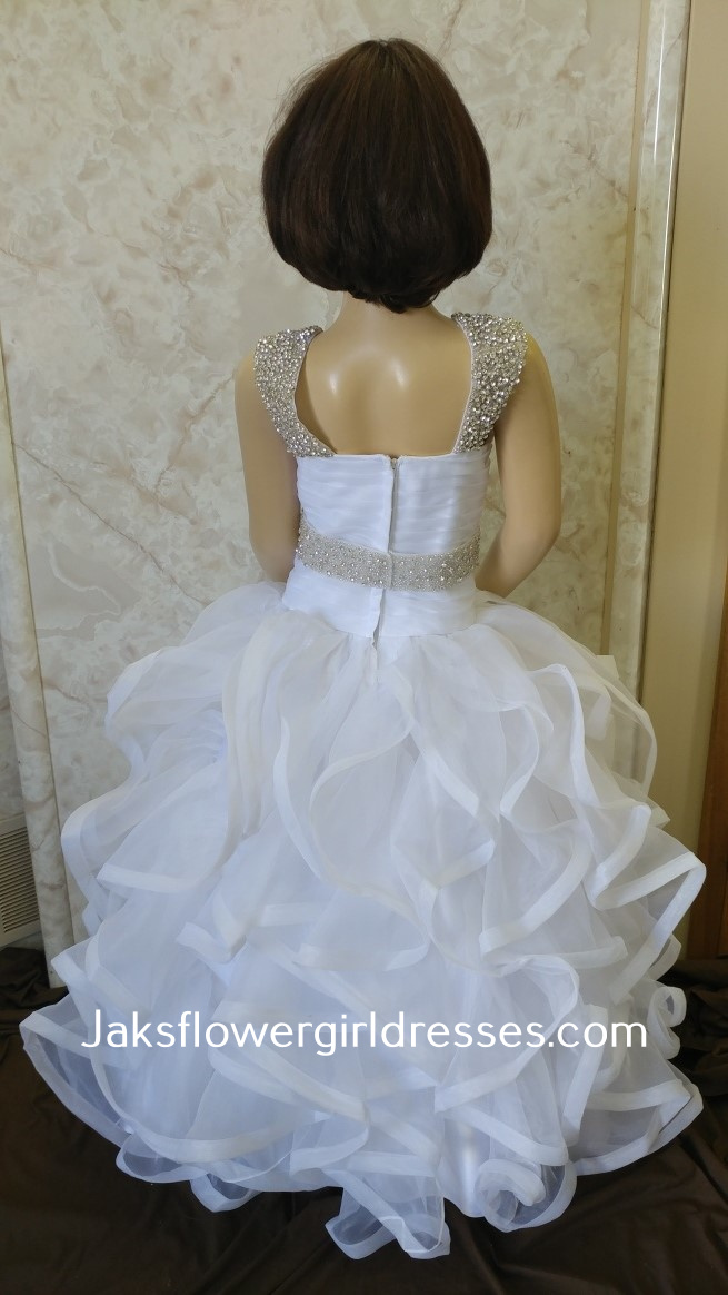 ruffled miniature bride dresses