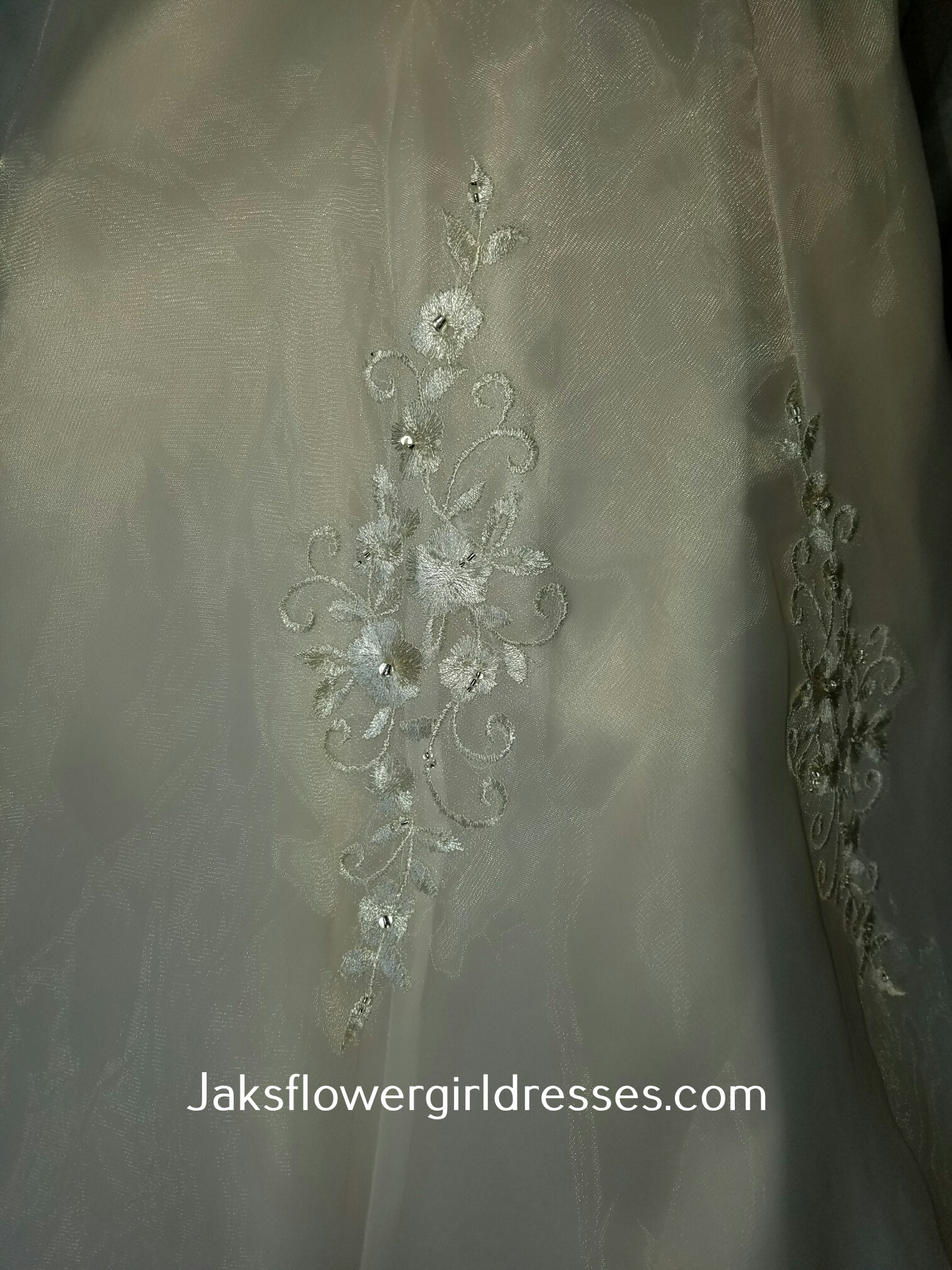 light champagne flower girl dress