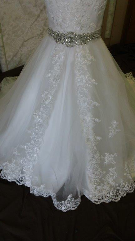 attached rhinestone beaded sash