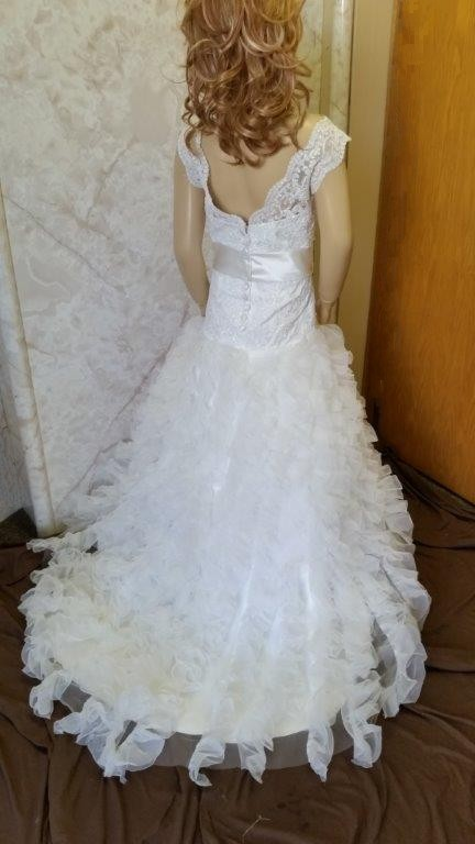 ruffled organza dress