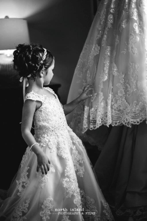 miniature lace flower girl dress
