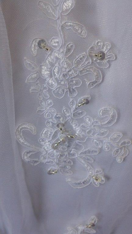 white lace applique