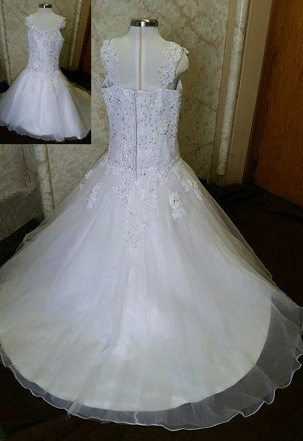 white miniature wedding dress