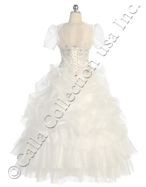 ivory organza pageant dress