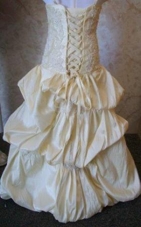 ivory miniature bridal gown