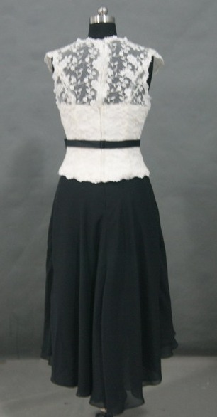 Mother's lace dress in black and white