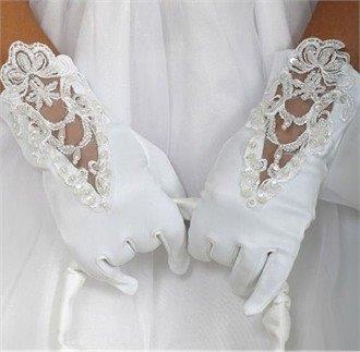 formal white gloves